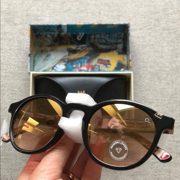 f0eeb02a144 Ernie Barcelona Basquiat Round Sunglasses